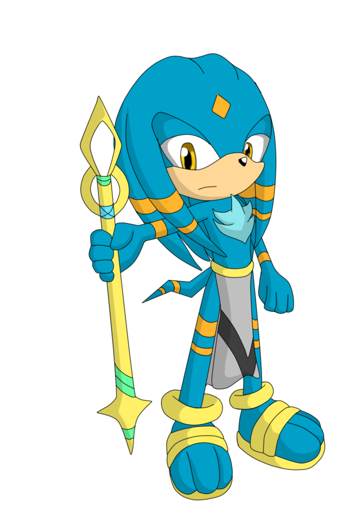Ventus the echidna by. Warrior clipart lightning