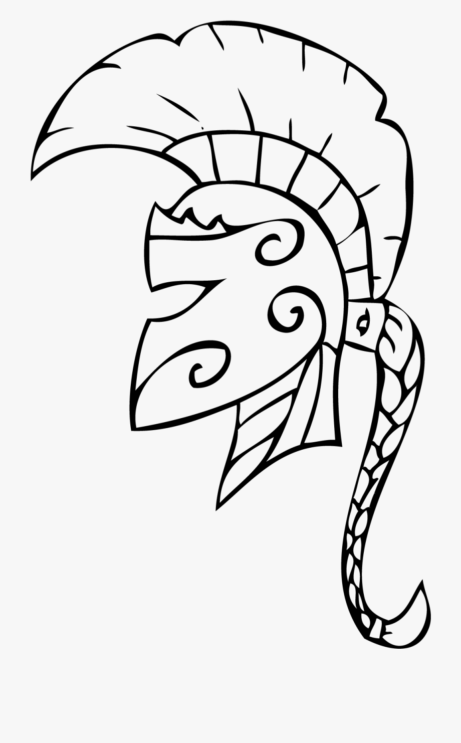 Warrior clipart line. Woman spartan art