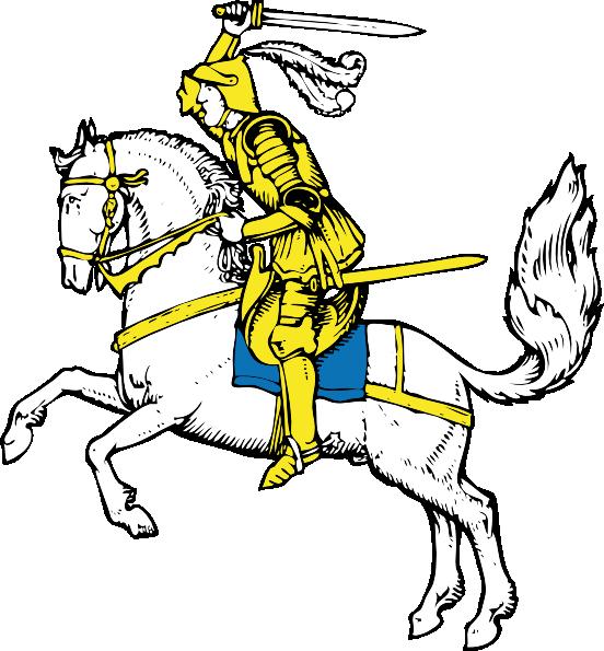 Warrior clipart logo. On white horse clip