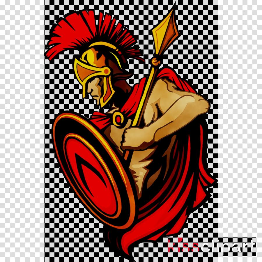 Warrior clipart mascot. Logo cartoon drawing transparent