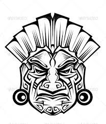 Tribal masks drawings google. Warrior clipart mask