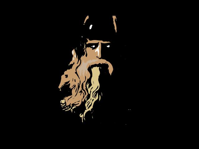 God workout logo design. Warrior clipart norse mythology
