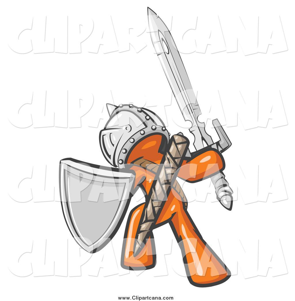 Warrior clipart orange. Clip art of a