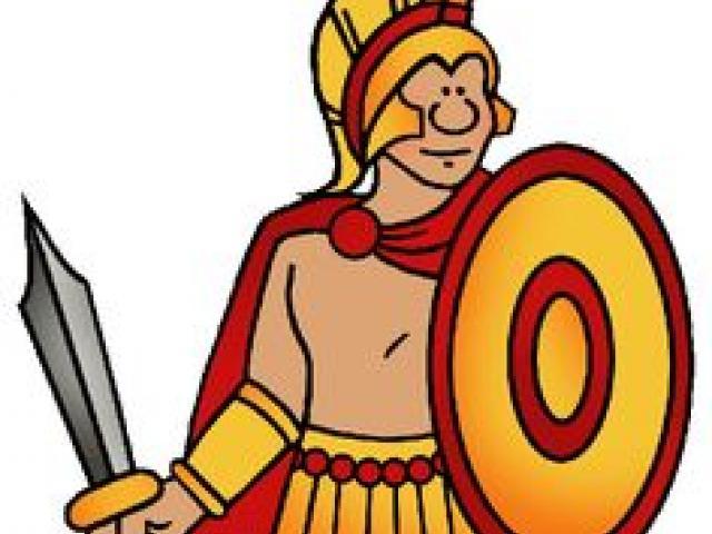 Warrior clipart orange. Free download clip art