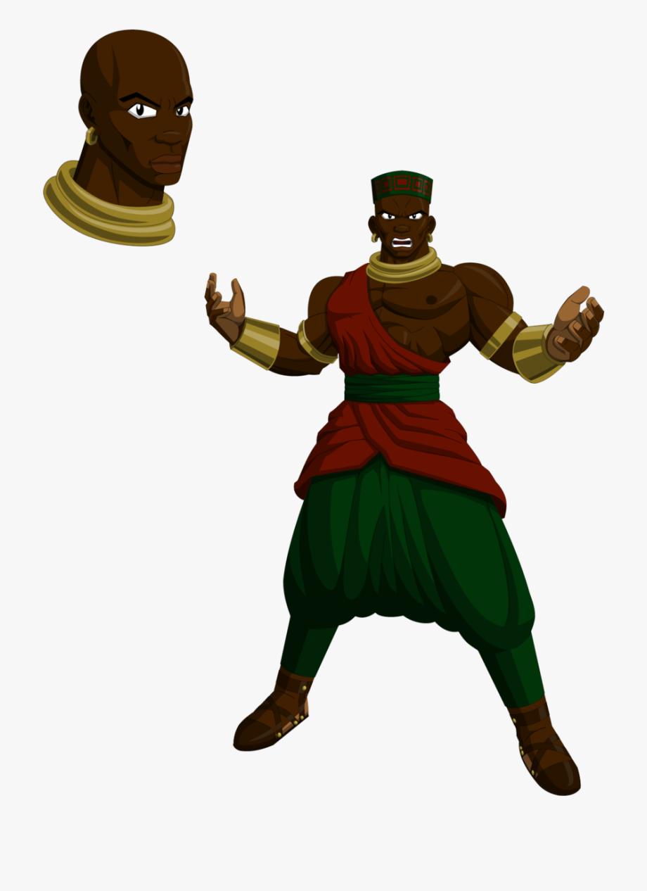 Dragon ball z african. Warrior clipart original