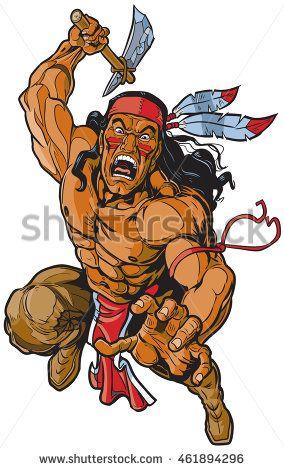 Vector cartoon illustration of. Warrior clipart original