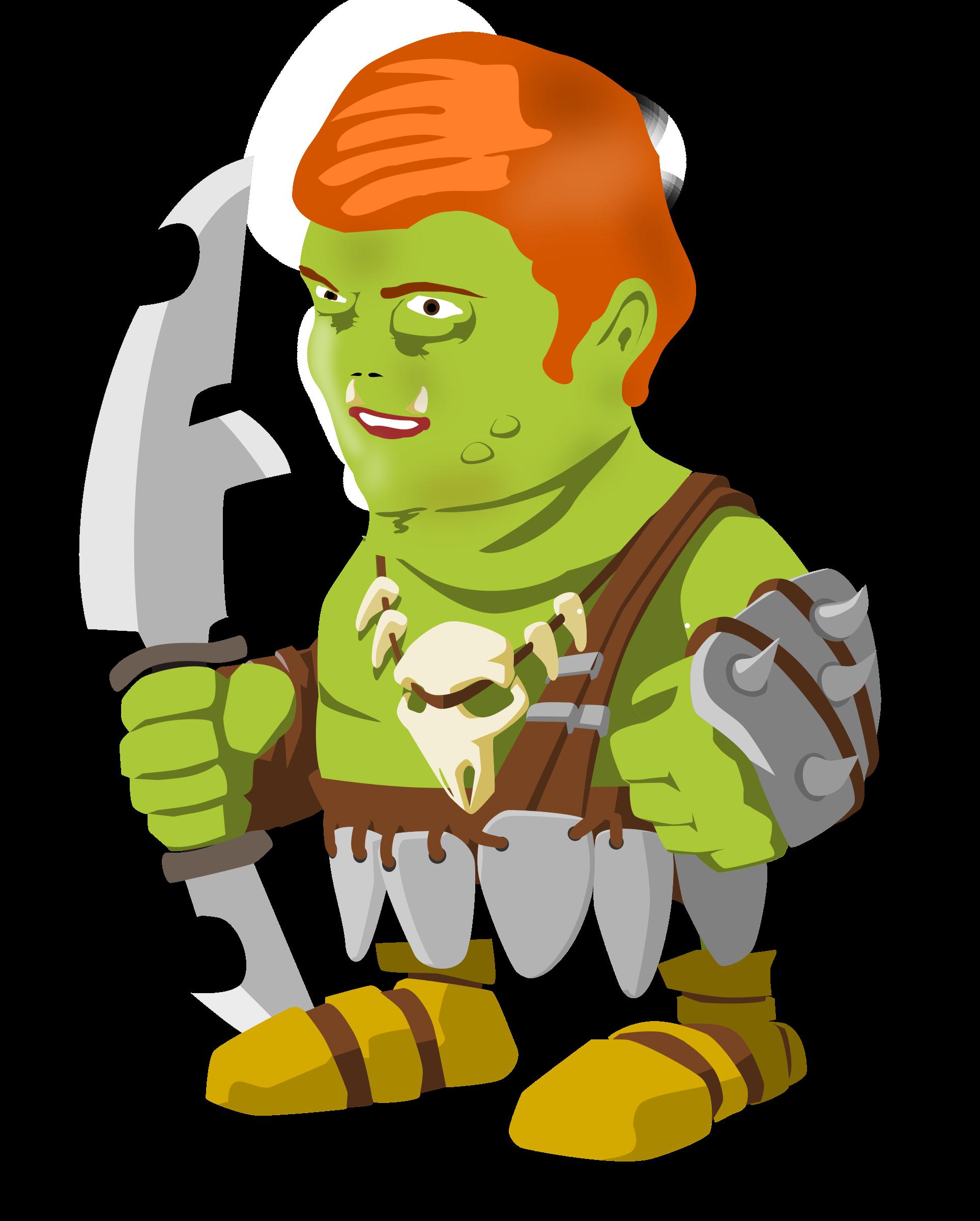 The green goblin big. Warrior clipart original