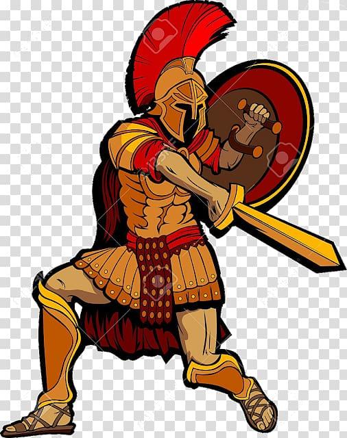 Warrior clipart roman battle. Soldier spartan army ancient