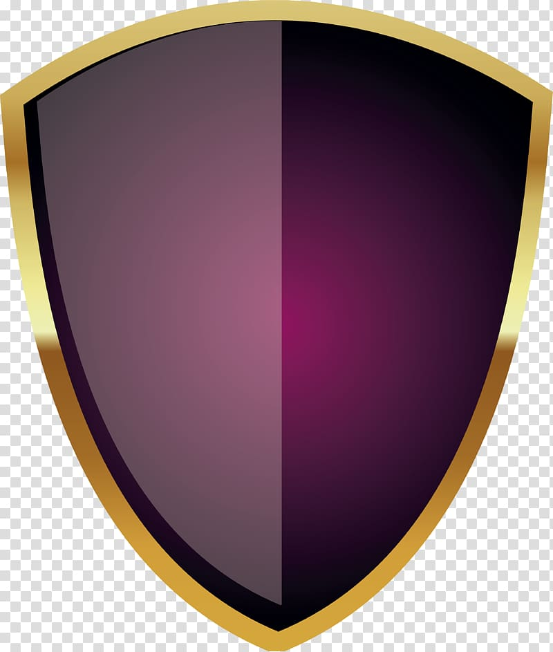 Purple and yellow illustration. Warrior clipart shield