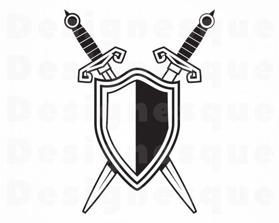Warrior clipart shield. Sword and svg armor