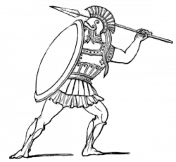 Athens drawing picture . Warrior clipart soldier athenian