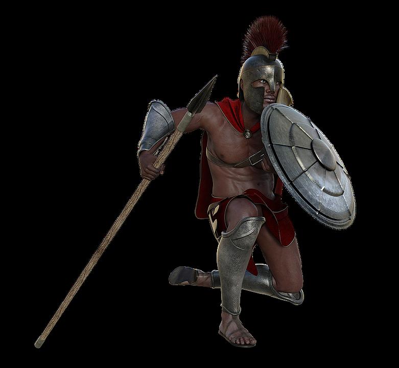 Free photo man fighter. Warrior clipart spear
