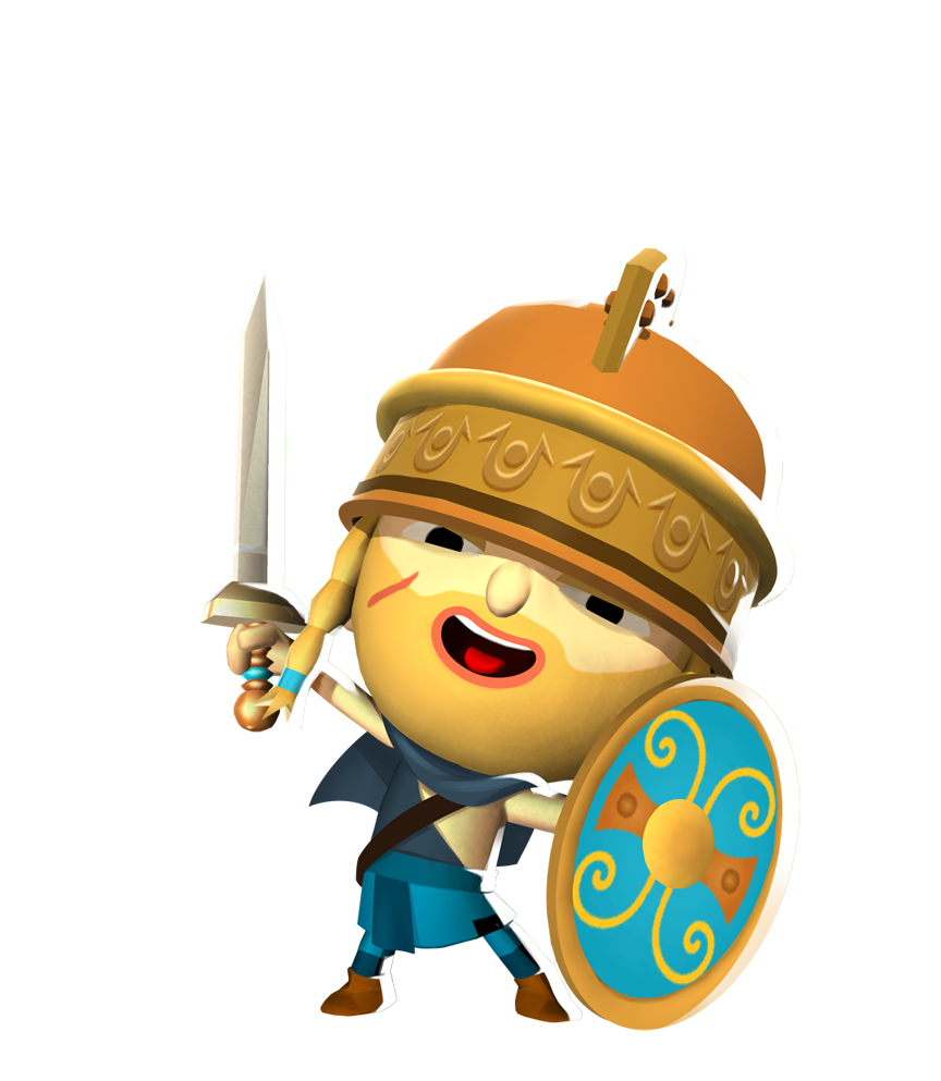 Leon the brawling gaul. Warrior clipart spear