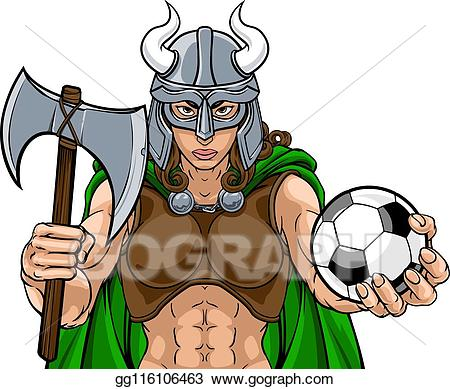 Eps vector viking female. Warrior clipart sport