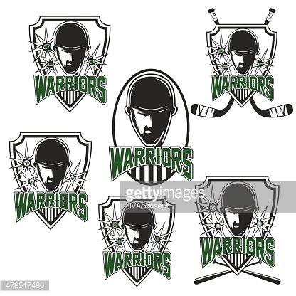 Warrior clipart sport. Set of vintage sports