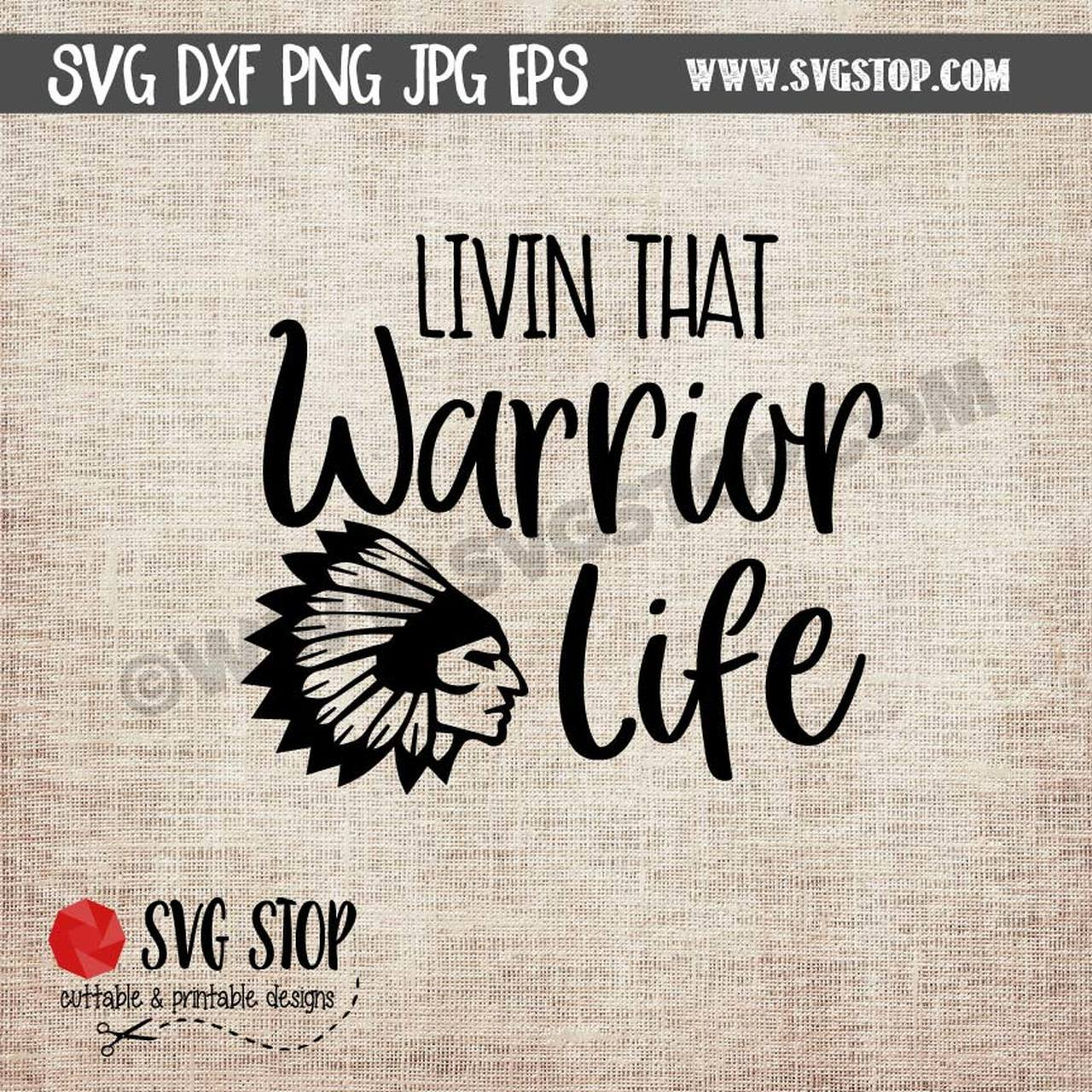 Livin that life cut. Warrior clipart svg
