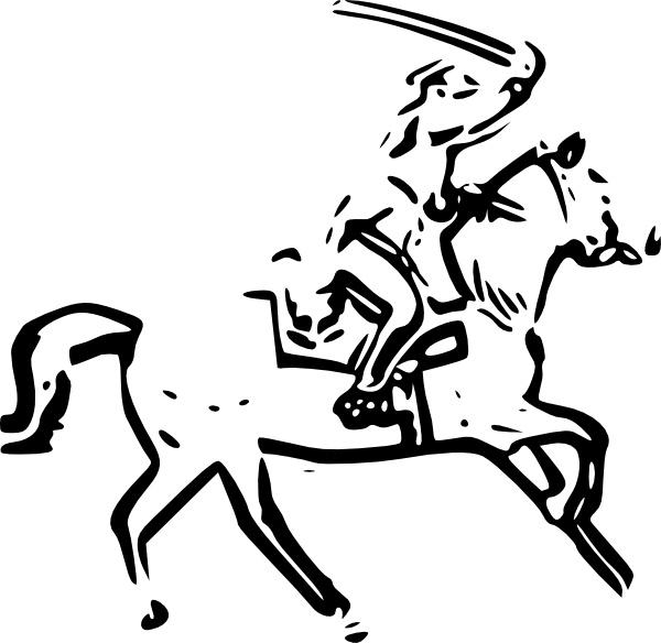 Horse clip art free. Warrior clipart sword clipart