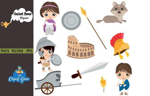 Ancient roman colosseum girl. Warrior clipart sword clipart