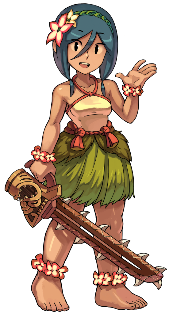 Leilani from indivisible know. Warrior clipart tiki
