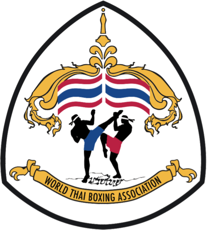 Boxing wtba sticky logo. Warrior clipart traditional thai