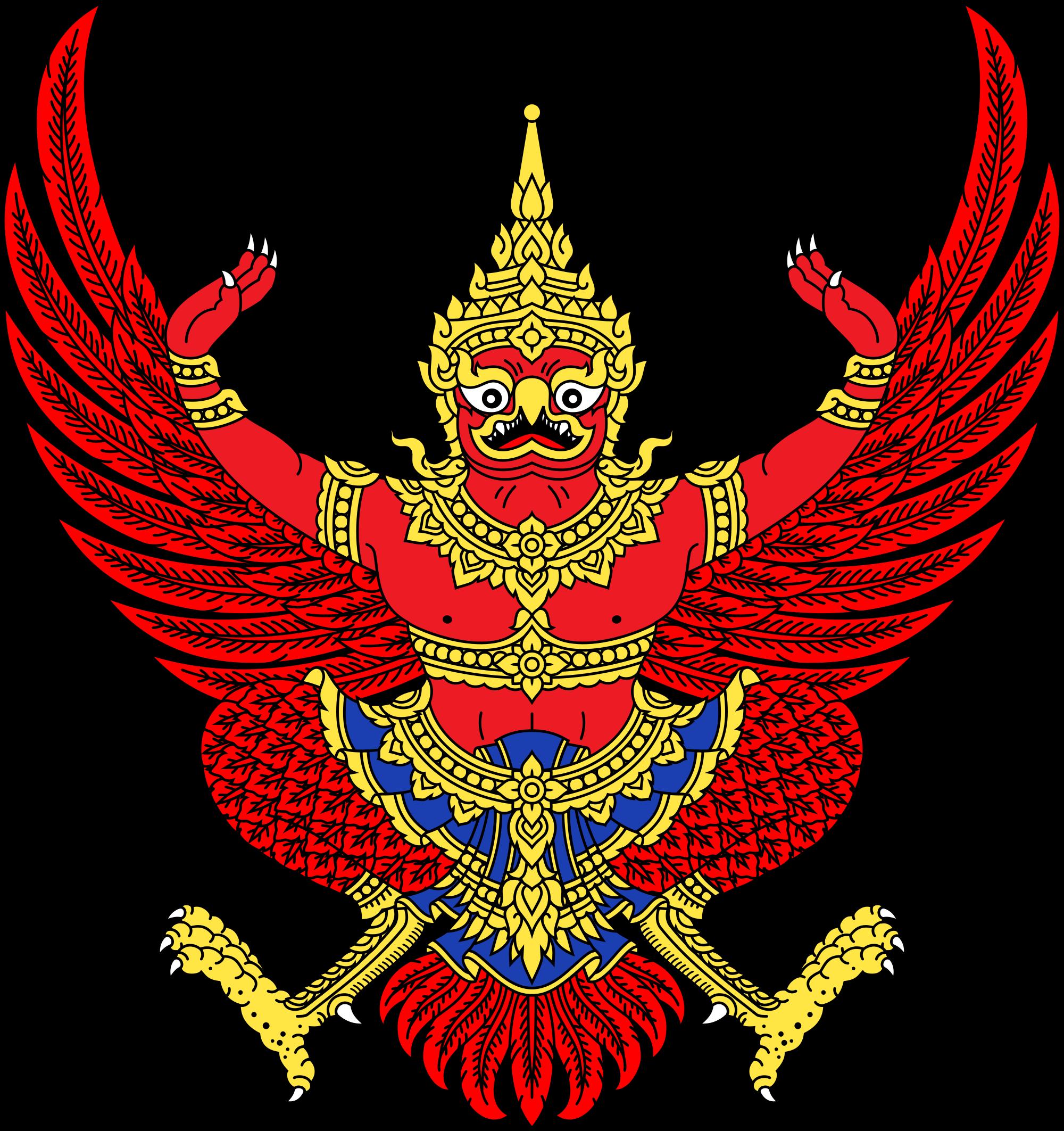 Thailand heraldry pinterest. Warrior clipart traditional thai