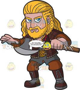 Warrior clipart viking man. A noble male