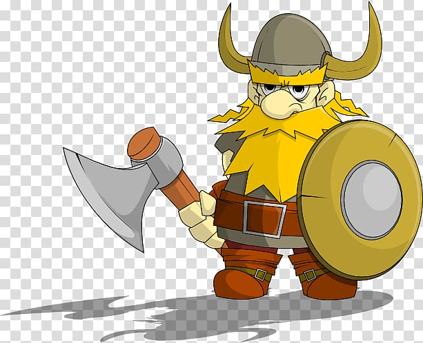 With axe and shield. Warrior clipart viking person
