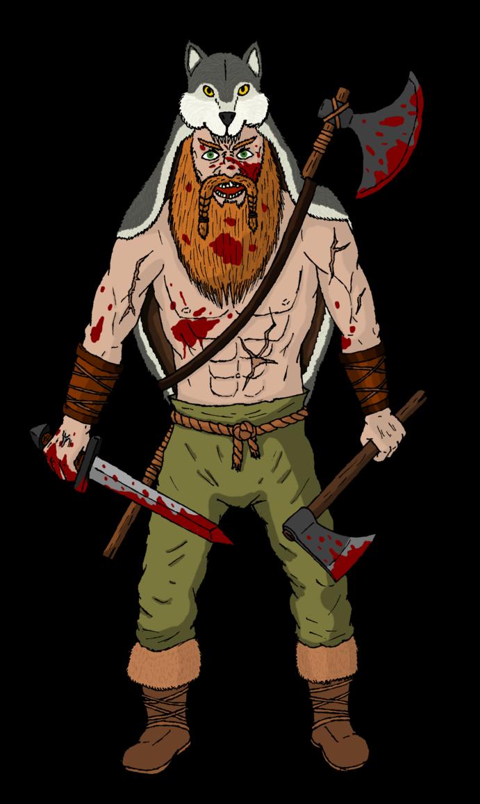 Vikings berserker by thomas. Warrior clipart viking person
