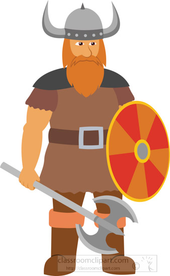 Warrior clipart viking person. Character with shield educational