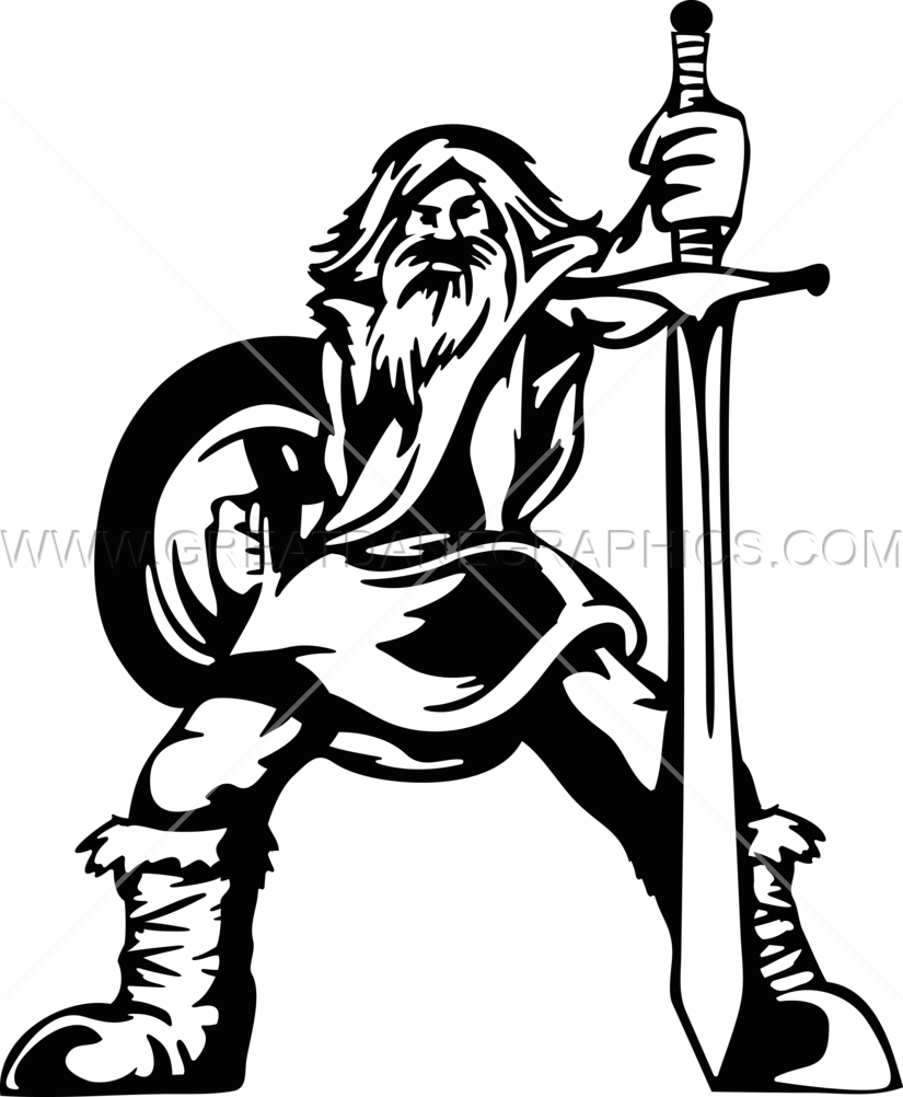 Norse production ready artwork. Warrior clipart viking person