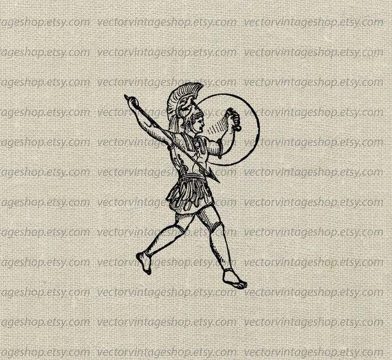 Warrior clipart war roman. Vector graphic instant download