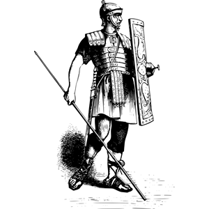 Soldier cliparts of free. Warrior clipart war roman