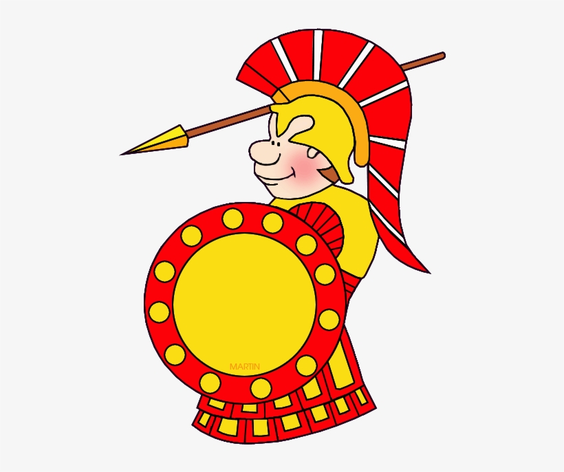 Warrior clipart war roman. Soldier ancient greece