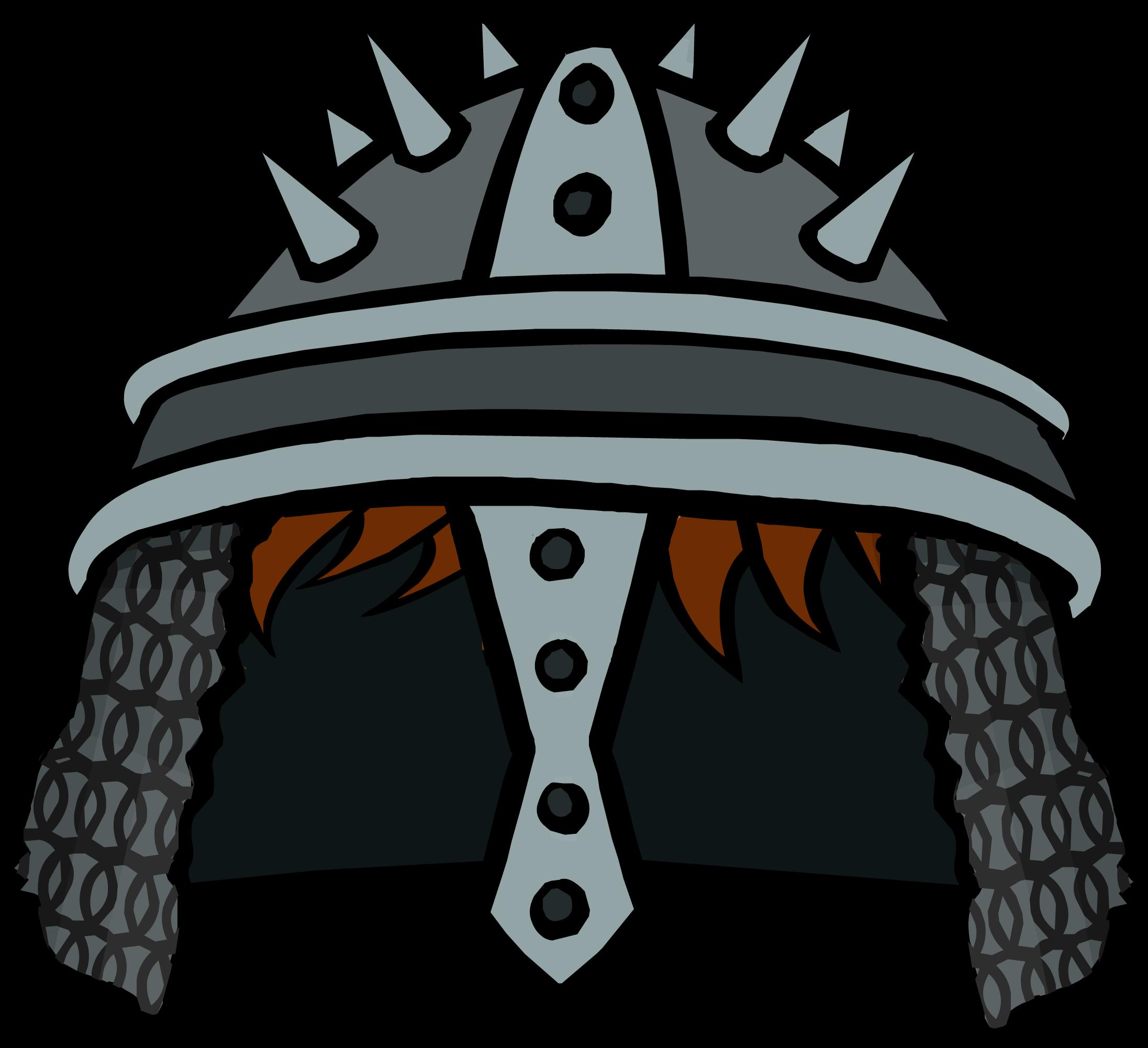 Warrior clipart warrior helmet. Spiked helm club penguin