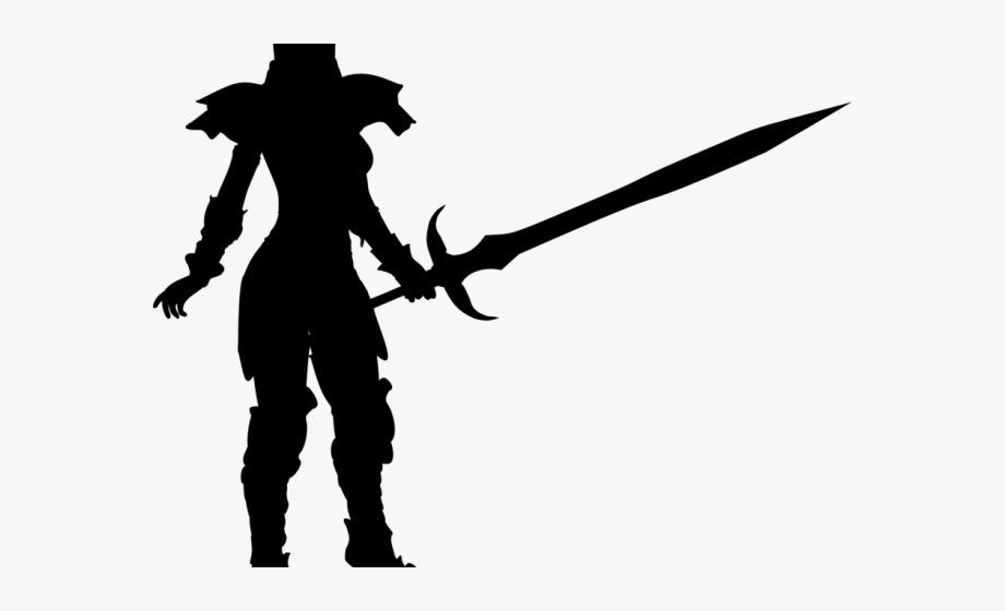 Warrior clipart woman warrior. Sword silhouette portable network