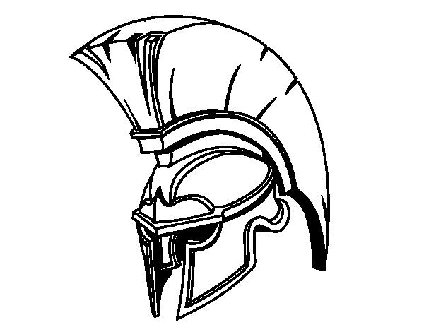 Warrior helmet png. Roman coloring page coloringcrew