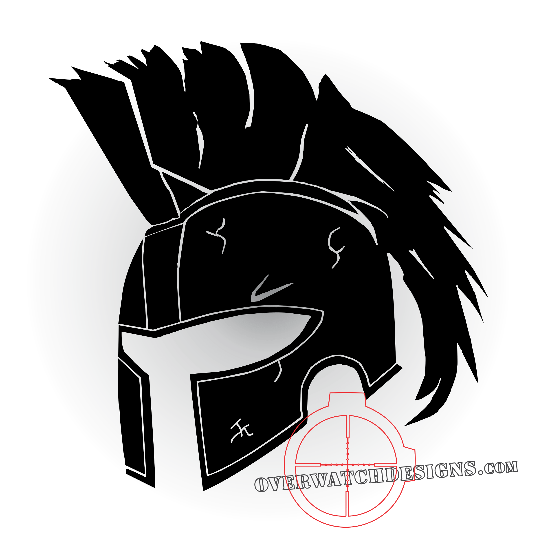 Spartan overwatch designs. Warrior helmet png