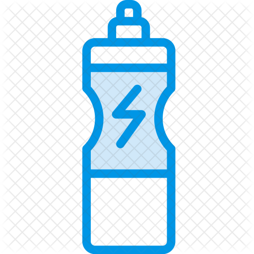 Gym fitness icons in. Water bottle icon png
