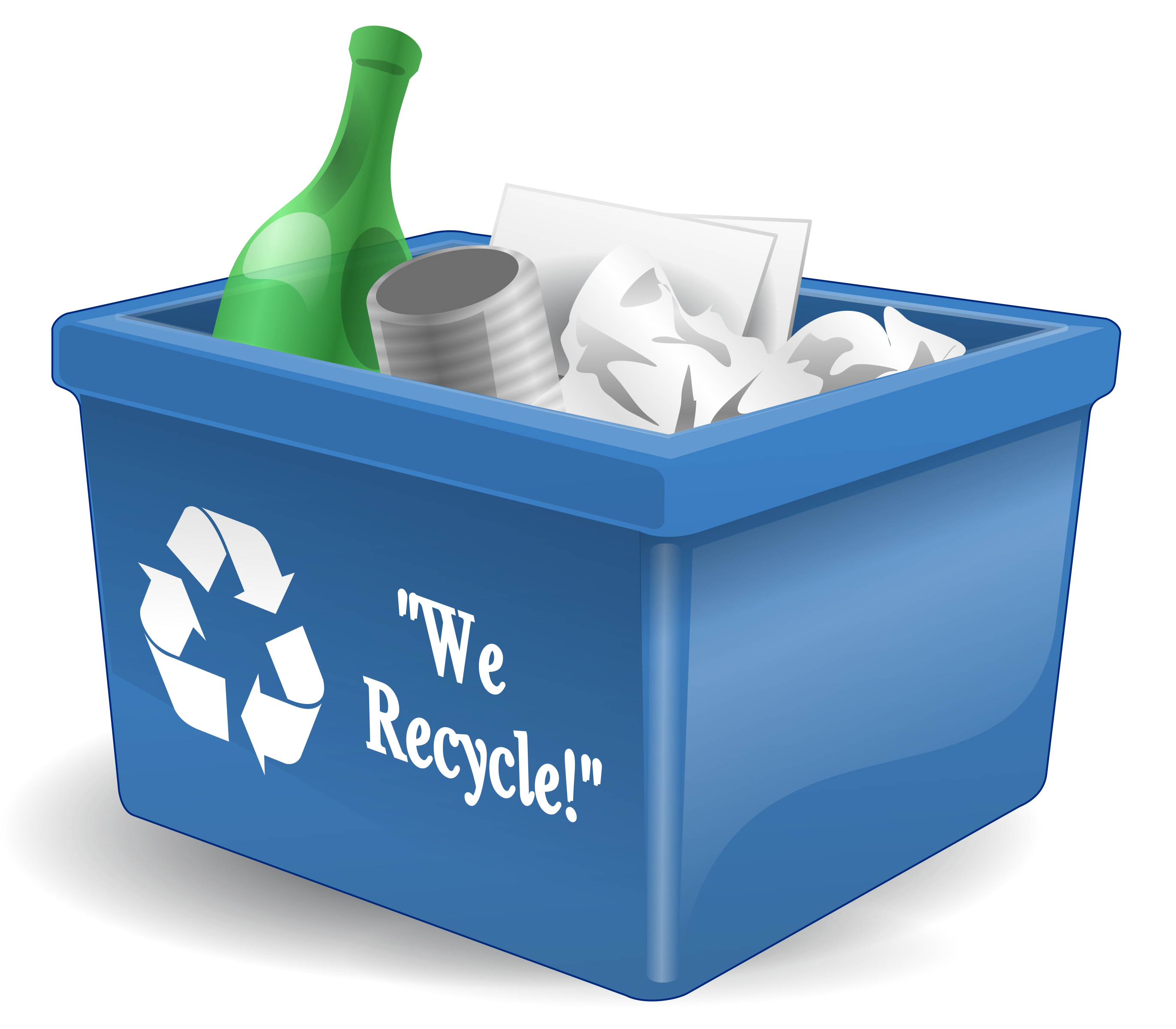 Recycling. Water clipart bin