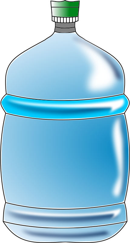 Bottle medium image png. Water clipart blue