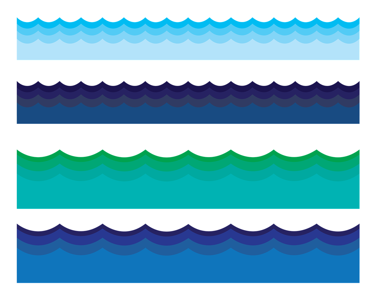 Water clipart boarder. Border waves ocean png