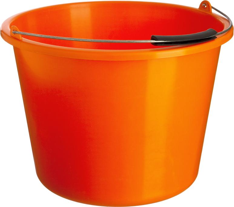 Orange plastic png image. Water clipart bucket