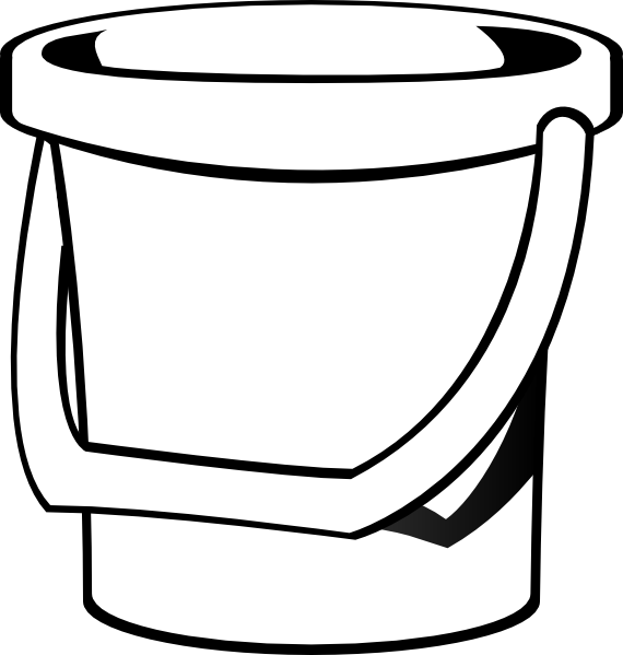Sand clip art at. Water clipart bucket