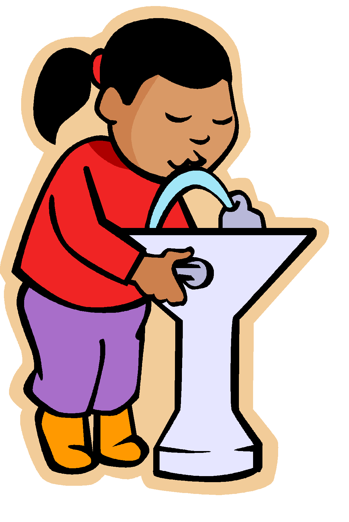 clip art at. Water clipart drinking fountain