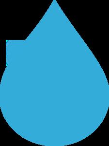 Blue clip art at. Water clipart drop