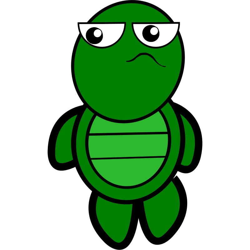 Free picture of cartoon. Water clipart turtle