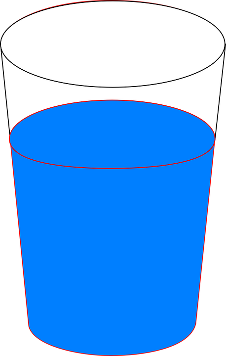 Full cup of . Water clipart vector