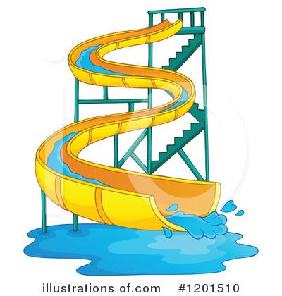Illustration by visekart . Water clipart water slide