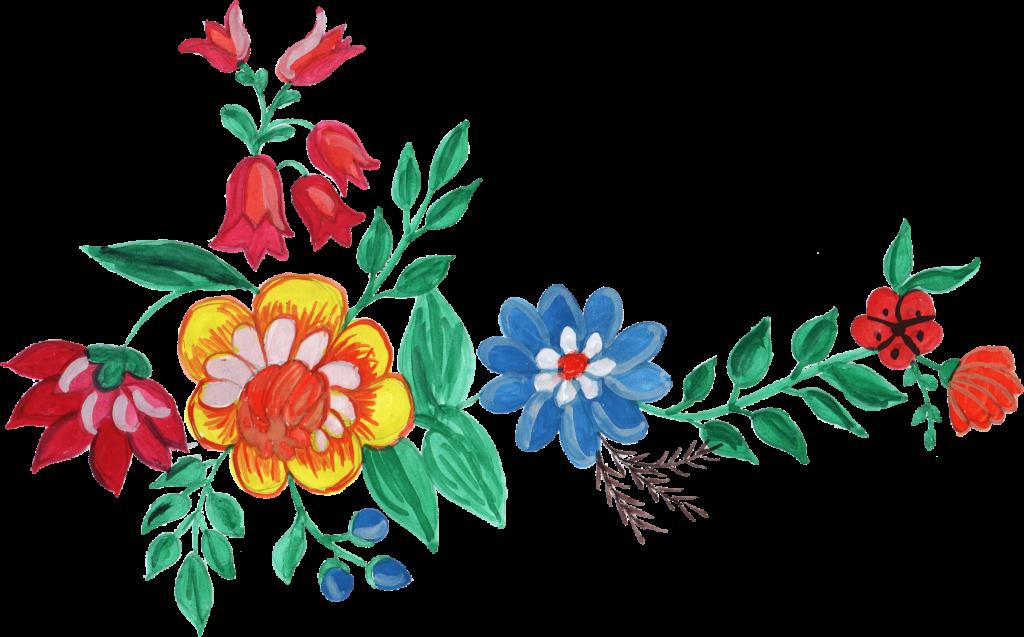 watercolor corner transparent. Water color flower png