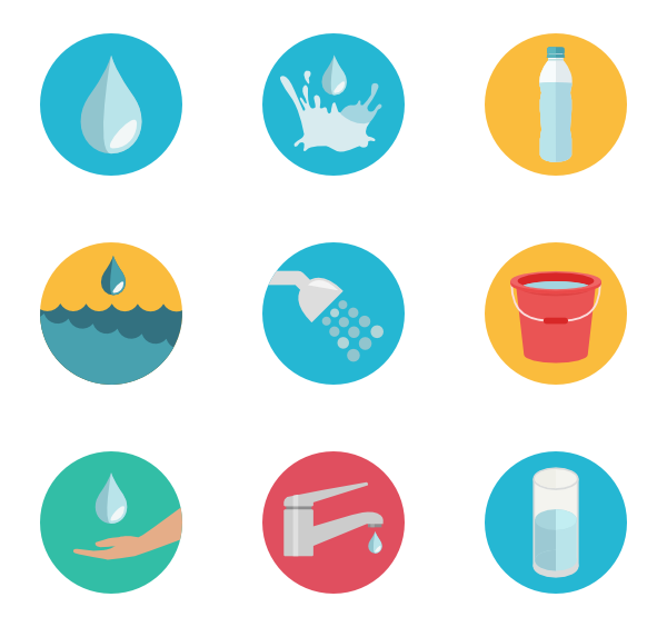 packs vector svg. Water icon png